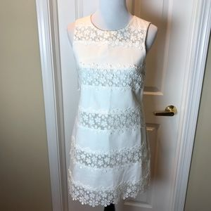 J. Crew dress, Sz 4, white with lace panels